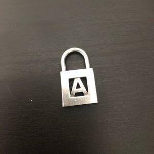 """A"" Tiffany & Co. Lock Charm"